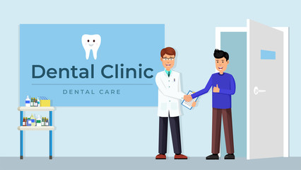 Doctor and patient handshake