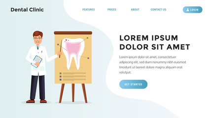 Quick dental problem identification landing webpage