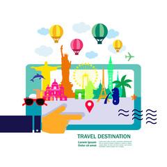 Travel around The World vector illustration.