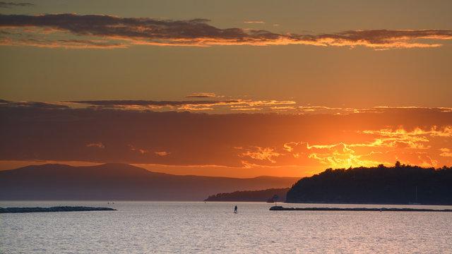 Lake Champlain Sunset From Burlington Vermont