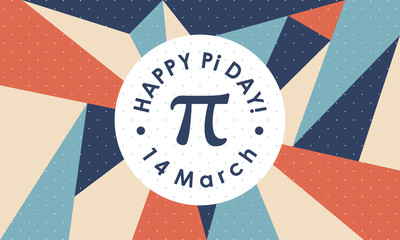 Happy Pi Day. Celebrate Pi Day. March 14th. 3.14 - Vector