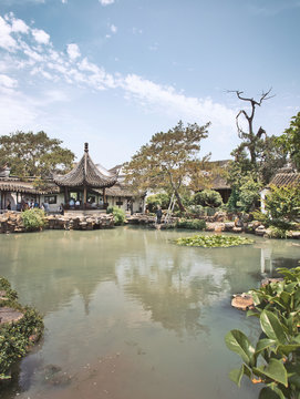 The Master of the Nets Garden, a small but beautiful traditional Chinese garden in Suzhou, China.