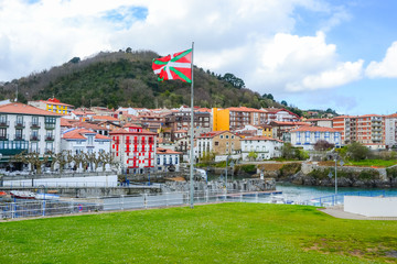 Landscape of the village of Mundaka, Basque Country. Spain