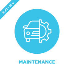 maintenance icon vector. Thin line maintenance outline icon vector illustration.maintenance symbol for use on web and mobile apps, logo, print media.