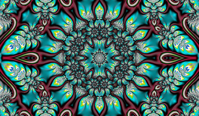 beautiful abstract background in the form of a fractal mandala