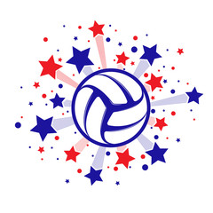 Stars fireworks volleyball