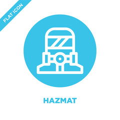 hazmat icon vector. Thin line hazmat outline icon vector illustration.hazmat symbol for use on web and mobile apps, logo, print media.