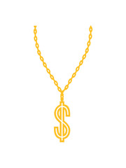 rapper dollar symbol zeichen geld reich millionär verdienen konto halskette schmuck halsband aufhängen kette schön hübsch gold design cool