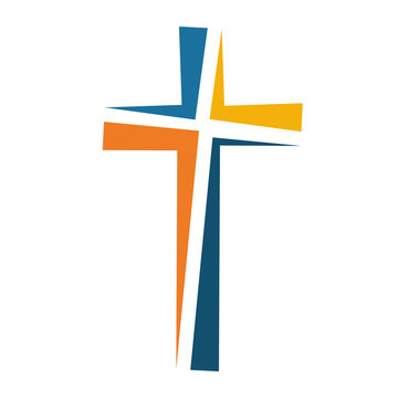 Christian cross icon. Vector illustration.
