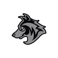 head wolf vector illustration
