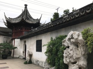 Chinese Wall in Yuyuan in Shanghai, China