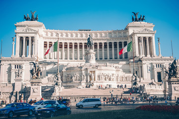 Monument Vittorio Emanuele II or Altar of the Fatherland in Roma, Italia.