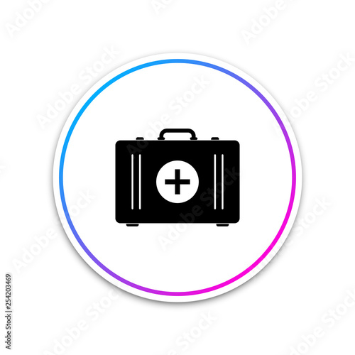 First aid kit icon isolated on white background  Medical box