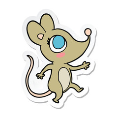 sticker of a cartoon mouse