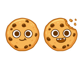 Chocolate chip cookie character