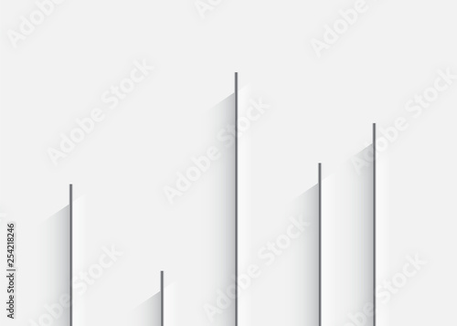 Vertical lines with a shadow  Background with vertical lines in