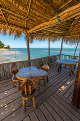 Restaurant am Meer bei Punta Gorda auf Roatan
