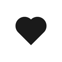 user website heart icon. Signs and symbols can be used for web, logo, mobile app, UI, UX