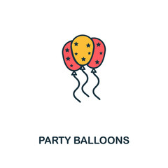 Party Balloons icon. Creative 2 colors design fromParty Balloons icon from party icon collection. Perfect for web design, apps, software, printing
