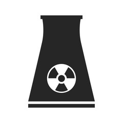 Nuclear power plant. Flat icon isolated on white background.