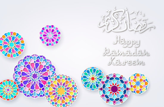 Background with Arabic Colorful Patterns