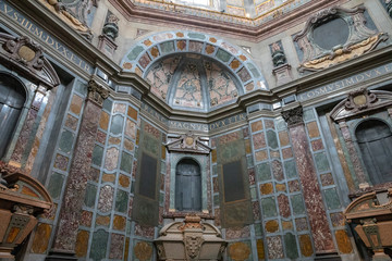 Panoramic view of interior of the Medici Chapels (Cappelle Medicee)