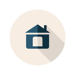 Flat Design Home or Homepage Icon. Vector Illustration.