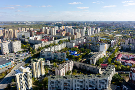 The 1st Zarechny residential district. Tyumen. Russia