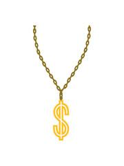 dollar symbol zeichen rapper geld reich millionär verdienen konto halskette schmuck halsband aufhängen kette schön hübsch gold design cool