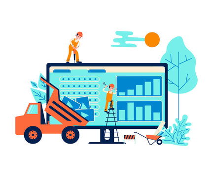 Development concept and website under construction