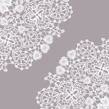 Delicate fine lace texture with heart elements + Elegant and beautiful pattern for your design