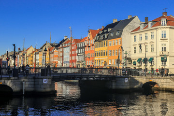 Panoramic View to the Colorful Houses, Copenhagen, Denmark