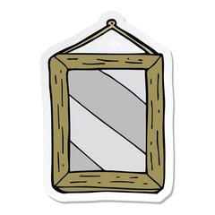 sticker of a cartoon mirror