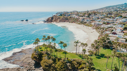 Laguna Beach Aerial View Wall mural