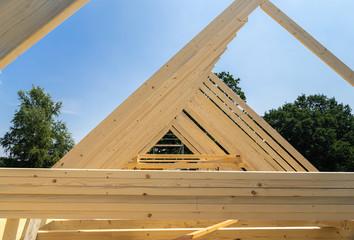 Holzdachstuhl eines Wohnhauses