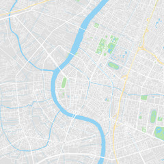 Downtown vector map of Bangkok, Thailand