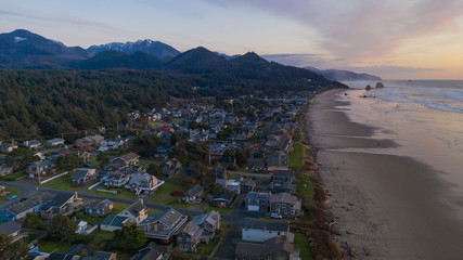 Aerial View Over South Cannon Beach