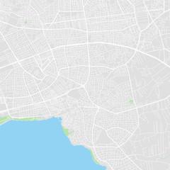 Downtown vector map of Antalya, Turkey