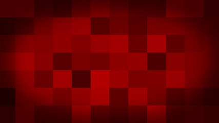 Red motion abstract background colorful pixels flashing and switch. Animation background glowing of mosaic tiles. Moving technologic squares with shine light. Abstract Red Squares background