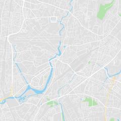 Downtown vector map of Mumbai, India