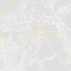 Downtown vector map of Mecca, Saudi Arabia