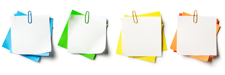 Notepads with paperclip set.