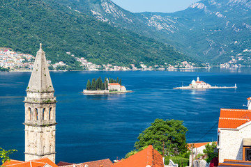 View of Perast and Historic Islands