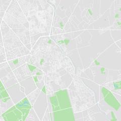 Downtown vector map of Marrakech, Morocco