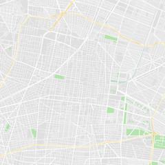 Downtown vector map of Mexico City, Mexico
