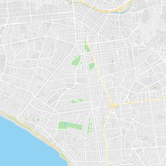 Downtown vector map of Lima, Peru