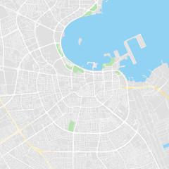 Downtown vector map of Doha, Qatar