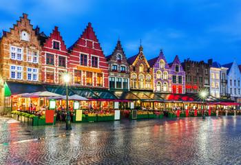 Fotorolgordijn Brugge Bruges, Belgium.