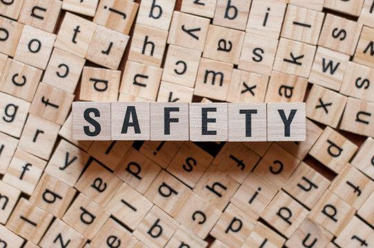 safety word written on wood block