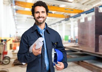 Smiling worker portrait